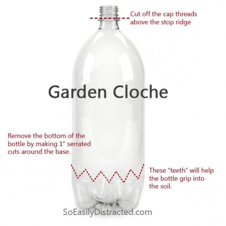 2 Litter Soda Bottle Garden Cloch Pattern