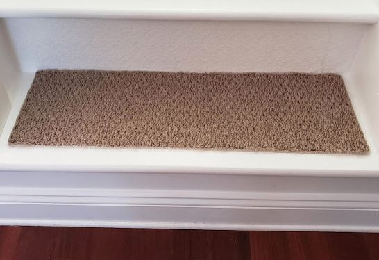 Diy Stair Carpet Remnant Treads Finished