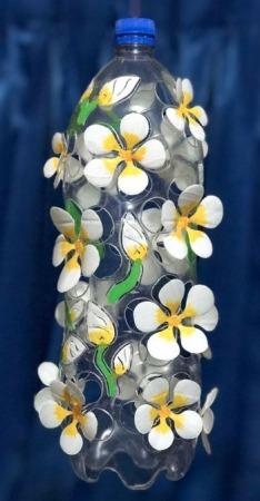 Carved Plastic Bottle Art