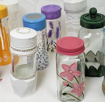 Decorating Empty Spice Jar Containers