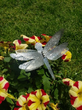 Diy Garden Dragonfly Decoration Plastic Bottle