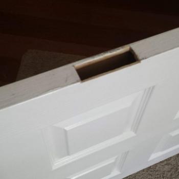 Hollow Core Door Loose Hinge Repair 5