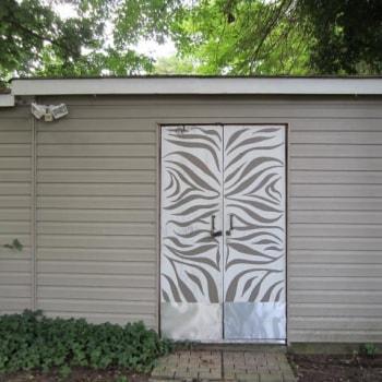 Zebra Patterned Shed Doors