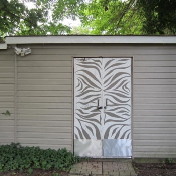 Zebra Patterned Shed Doors