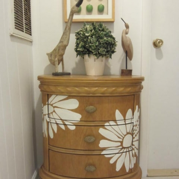 Painted Daisy Dresser