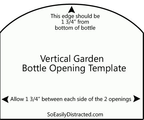 Plastic Bottle Vertical Garden Opening Template