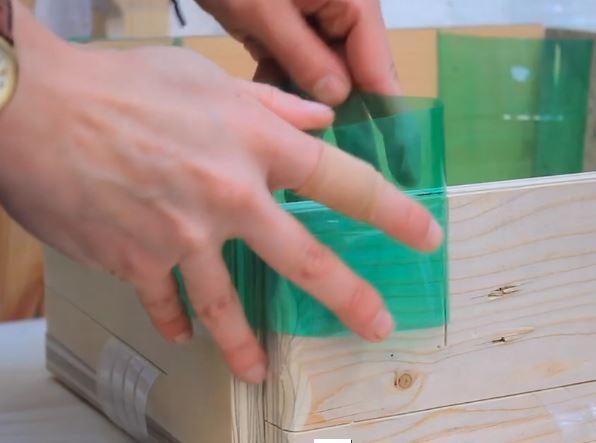 Plastic Bottles To Join Garden Bed Boards
