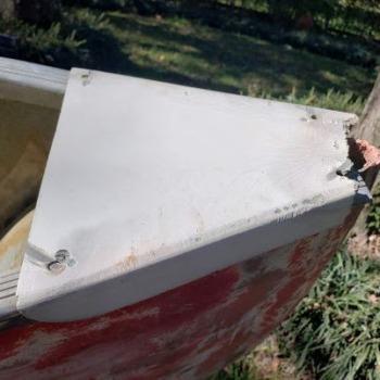 Repairing Canoe Deck End Cap