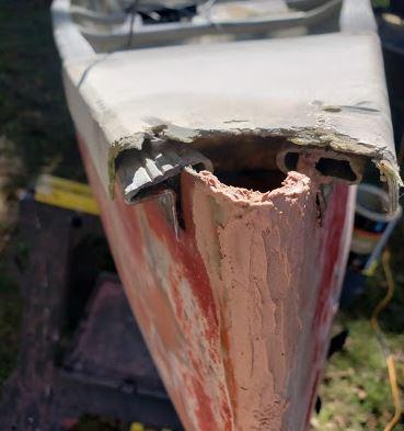Repairing Canoe Deck End Cap Front