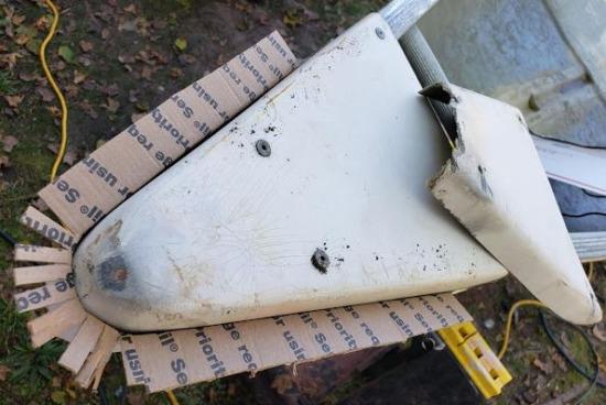 Repairing Canoe Deck End Cap Support Edge A
