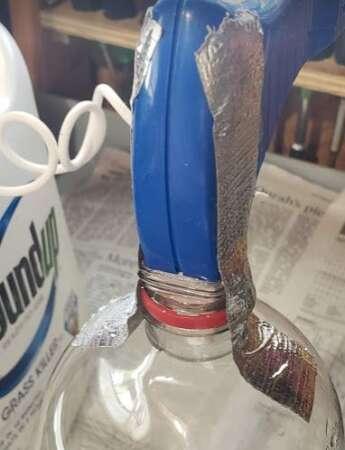 Secure Sprayer Inside Plastic Bottle Neck