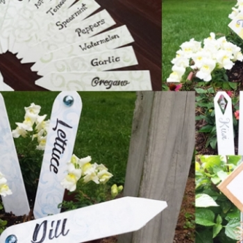 DIY Garden Markers and Hanging Plant Markers